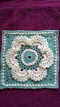 Ravelry: Cow Parsley Afghan Square pattern by Lettice Rose