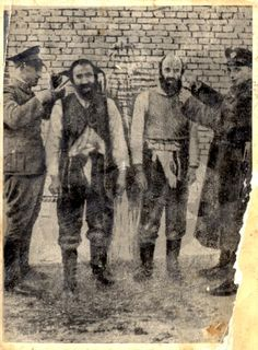 Klooga, Estonia, Cutting of the beard and sidelocks of Jews. This was done in effort to humiliate and shame the Jews.