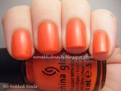 No Nekkid Nails: China Glaze Wicked Collection Roguish Red