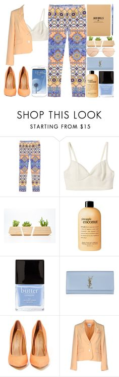 """Put in some work"" by welcometofashionland ❤ liked on Polyvore featuring Philosophy di Alberta Ferretti, Ray-Ban, philosophy, Butter London, Yves Saint Laurent, Michael Antonio, Moschino Cheap & Chic, Jack Wills and Garance Doré"