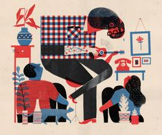 Keith Negley's Living Room Rock Show ✭ illustration ✭ graphic inspiration Art And Illustration, Creative Illustration, Illustrations, Character Illustration, Storyboard, Editorial Design, Tableaux D'inspiration, Jazz Club, After Life