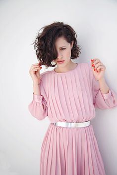 Pink powered dress