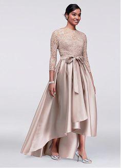36a2e4a7818 Buy discount Gorgeous Lace   Satin Bateau Neckline Hi-lo A-line Mother Of  The Bride Dress With Belt at Ailsabridal.com