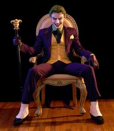 Holy Joker cosplay Batman!  Friggin' flawless.