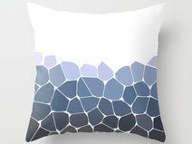 blue printed decor pillow