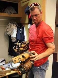 My MaN!!! ~Chipper Jones packing up 2012 ~ it will never be the same :(