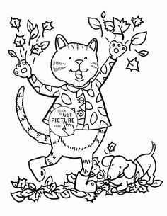 funny fall day coloring pages for kids fall leaves printables free wuppsycom - Fall Kids Coloring Pages