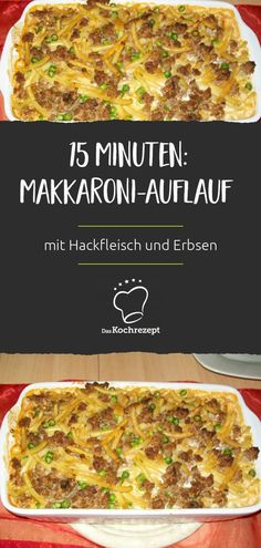 Makkaroni-Auflauf mit Hackfleisch und Erbsen For the macaroni casserole with minced meat and peas, the best comes at the end: Then the layer of minced meat and peas is baked with delicious cheese! Salad Recipes Healthy Lunch, Salad Recipes For Dinner, Chicken Salad Recipes, Easy Salads, Meatball Recipes, Crock Pot Recipes, Meat Recipes, Seafood Recipes, Vegetable Soup Healthy