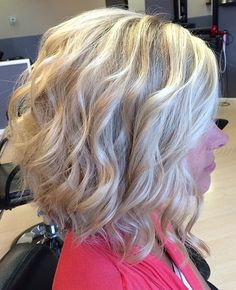 wavy and curly medium length hairstyles, shoulder length hairstyles - wavy long bob hairstyle