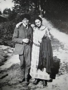 Alberto with his sister Ottilia Giacometti,1923/24