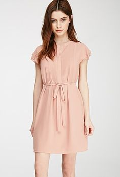 Pintucked Chiffon Dress | Forever 21 - 2052288405