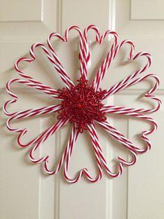 Dollar Tree candy cane wreath