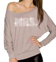 Rhinestone Bride shirt - perfect for your honeymoon!