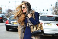 Fur & leopard on Joanna Hillman