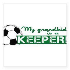 Proud grandparent of a soccer goalkeeper Square St