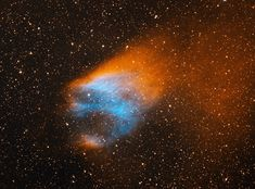 The Flaming Skull Nebula (Sharpless 68 or Sh2-68) is a large planetary nebula located in the northern part of the constellation of Serpens Cauda, the Serpent's Tail. It is...  Continue reading on: http://annesastronomynews.com/annes-image-of-the-day-the-flaming-skull-nebula/