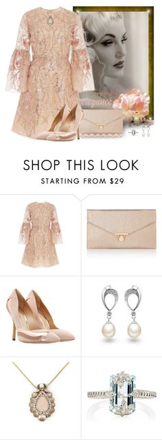"""""""Lace dress"""" by fashionrushs ❤ liked on Polyvore featuring Marchesa, Accessorize, Paul Andrew, Belec, Vintage Addiction and Cathy Waterman"""