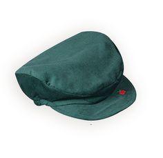 Boys' Green Corduroy Driver's Cap with Apple Applique