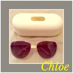 CHLOE Aviator Sunglasses New Chloe Aviator Sunnies. Box, Chloe case and authenticity papers included. Chloe Accessories Sunglasses