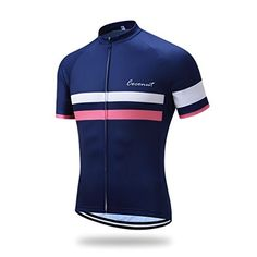 Coconut Polyester Breathable Short Sleeve Cycling Jersey Medium Navy ** Click on the image for additional details.