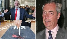 nigel farage -jeremy corbyn students voted twice due to Labour bribe promises