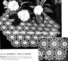 Rose O' Summer doily free vintage crochet doilies patterns