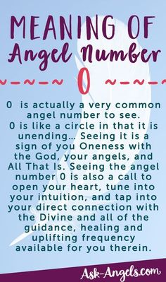 The Meaning of Seeing The Angel Number 0! Learn more about seeing 0, 00, and 000 here! >>