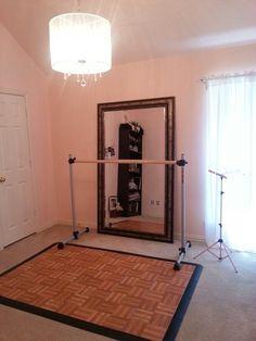 Ballet room on a budget Ballet Bedroom, Dance Bedroom, Dance Rooms, Bedroom Wall, Master Bedroom, Home Ballet Studio, Ballet Barre, Dance Ballet, Ballet Class