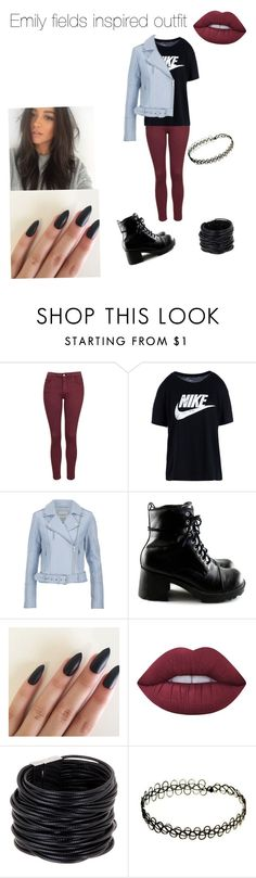 """Pll Emily fields inspired outfit"" by macleecell on Polyvore featuring Topshop, NIKE, Gestuz, Lime Crime and Saachi"