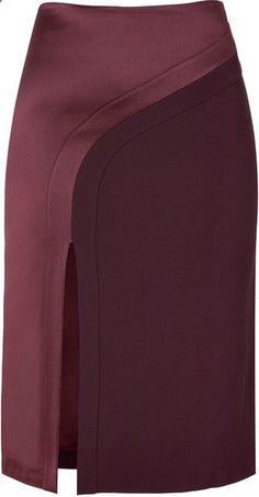 Hakaan Bordeaux Pencil Skirt - Lyst