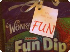 Fun dips--->Life with you is FUN...Cute little Valentines gift I made and only $1 :) DIY