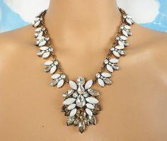 Stone mix crystal bib statement necklace bib necklace by Trendysky, $21.99
