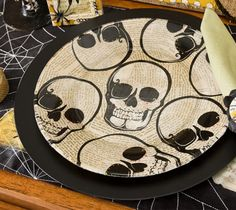 Dollar Store Crafts » Blog Archive Make a Halloween Skull Plate Using Napkins! » Dollar Store Crafts