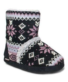 MUK LUKS Ebony Lodge Fair Isle Sherpa Ankle Boot - Women