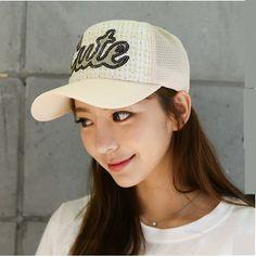 Sequins cute baseball cap for girls plaid daisy trucker caps