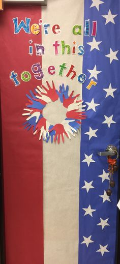 My After the Election door at school