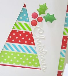 We 'Washi' You a Merry Christmas cards by Melinda