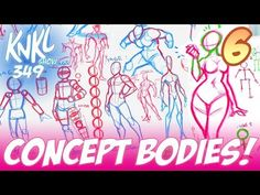 Concept Art BOOT CAMP 6: Concept Art Bodies (6 STAGES to stylish, balanced forms for concept art!) - YouTube