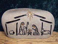 Grabado de Natividad Natividad coleccionable piedra Natural