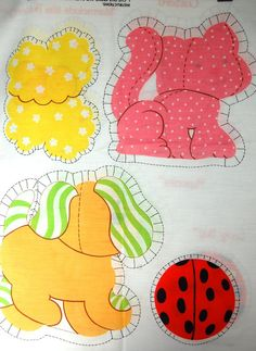 Vintage Strawberry Shortcake Pets Pillow Panels by SackLunchTime
