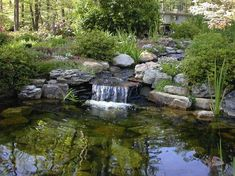 waterfall small cascade stream pond