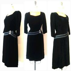This 1940s Volup Inky Black Velvet Stunner is available now at RackedVintage! Size Large