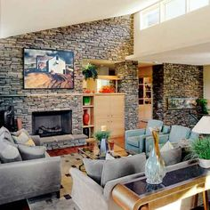 Stone Veneer: I don't like this particular design, but I love the idea of it being on a wall or two in the house