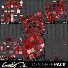 A Tomato Color Bundle 1 - $9.28 : Caroline B., My Magic World of Digital Design