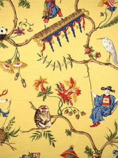 DecoratorsBest - Detail1 - Scala 16291-003 - Ming Circus - Multi On Pollen - Fabrics - Wallpaper - DecoratorsBest