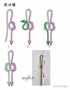 Chinese knot work – Picture World Macrame Bracelet Patterns, Diy Friendship Bracelets Patterns, Macrame Patterns, Macrame Bracelets, Jewelry Patterns, Jewelry Knots, Bracelet Knots, Bracelet Crafts, Beaded Jewelry