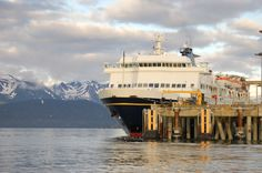 Alaska Marine Highway System celebrate its 50th Anniversary this season. Here, a ferry docked in Homer.