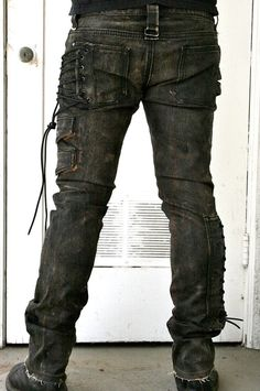 Corded denim pant by BoneBlack on Etsy