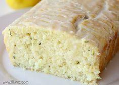 Pan de limón y calabacín glaseado