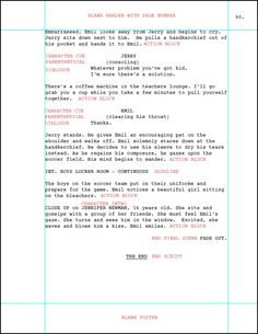 Screenplay Indents  Screenplay Format
